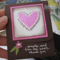 Simply Said Gift Card Holder