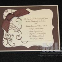 Stamped Wedding Invitation Idea