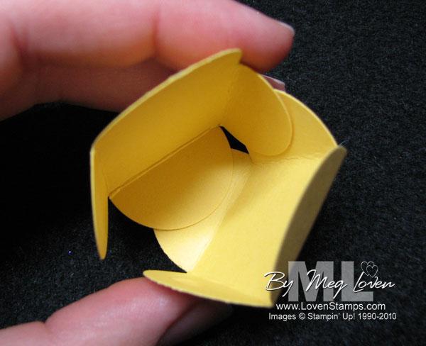 petal card punch candy idea wedding favor tutorial idea - LovenStamps