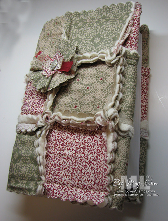 A Big Shot Christmas: Quilted Book Covers LovenStamps
