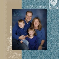 Family Photos, Scrapbooked MDS-Style