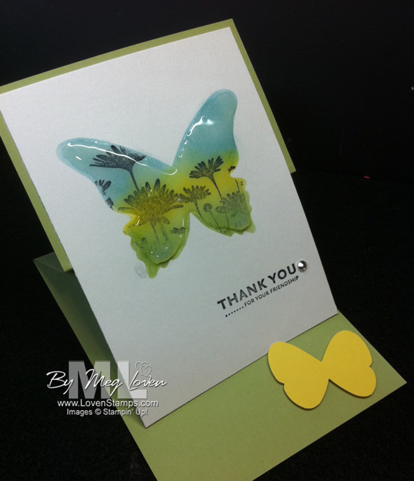 enameled-glass upsy daisy easel card crystal effects