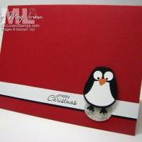 Perky Penguin Punch Art Greetings