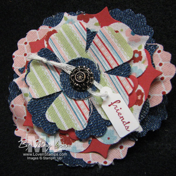 Twitterpated fabrics with the Tiny Tags stamp set