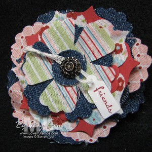 Upcycled Fun Fabric Flower Pins - make your own with cutting dies for the Big Shot, project from LovenStamps