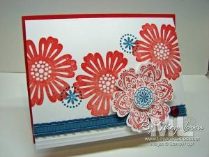mixed-bunch-ruffled ribbon blossom punch