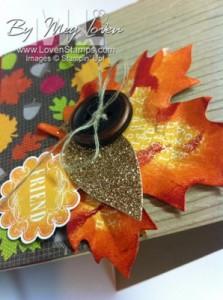 leaf button closeup