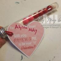 "Bubblegum Valentine Idea: ""Chews"" Me?"