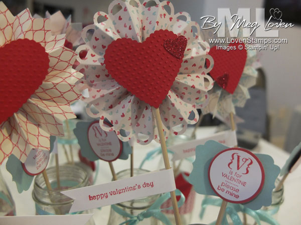 Valentine BINGO Centerpieces Table Decor Ideas LovenStamps