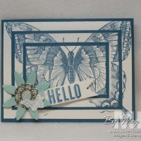 Triple Stamping: Swallowtail Butterfly Card