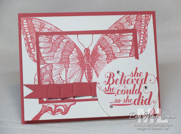 Swallowtail Double Stamping Technique Card