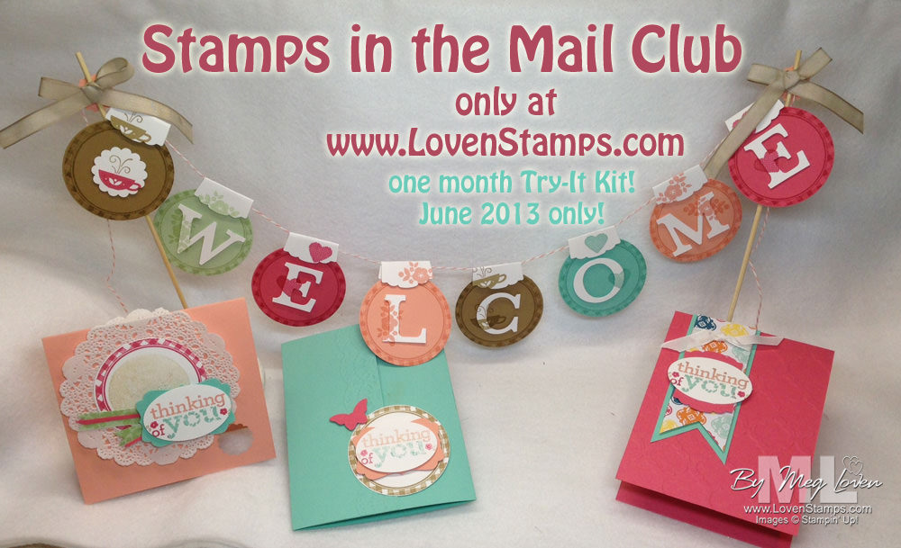 Stamps in the Mail Club: One Month Try-It Kit - June only