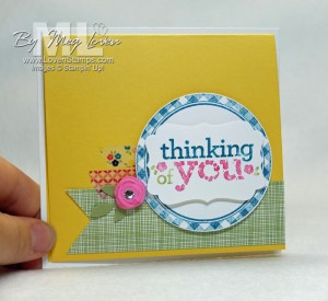 Kind & Cozy stamp set: Convention Swap idea with washi tape & Simply Pressed Clay