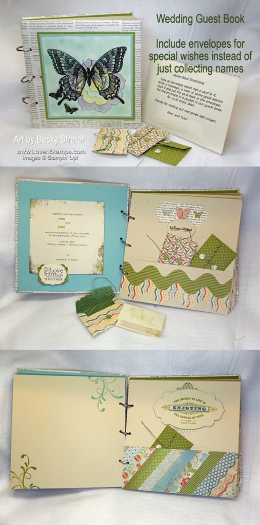 Wedding Guest Book Idea: Include envelopes to collect special wishes instead of just names