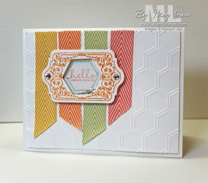 Hexagon Punch Shaker Card Tutorial: with the Chalk Talk Framelits and stamps -- from LovenStamps