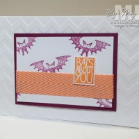 Clean & Simple: Bats About You, Halloween Card