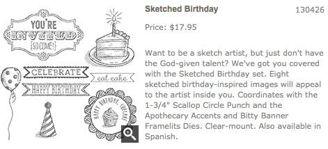 Sketched Birthday stamp set