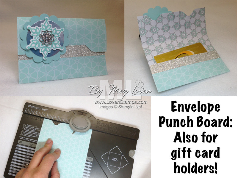 Gift Card Holder Tutorial: Envelope Punch Board from LovenStamps
