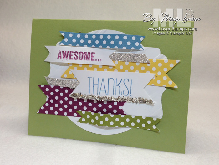 """Yippee Skippee Beautiful Banners Card - Step by Step Video Tutorial includes tips on creating banners with """"motion"""". By LovenStamps"""