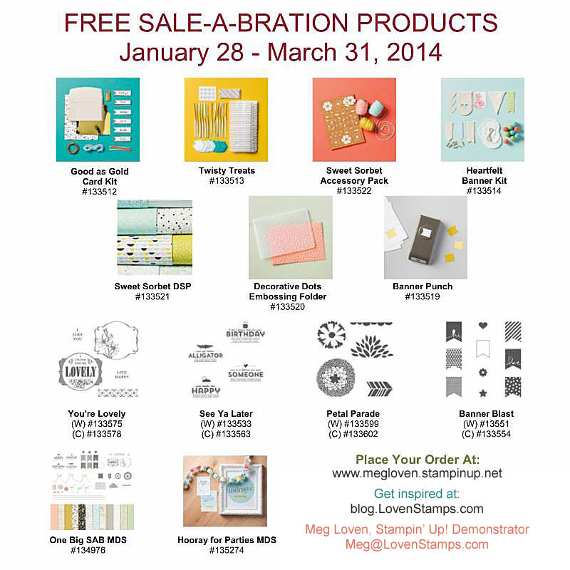 Sale-A-Bration free item selection - pick one with each $50 you order through March 31