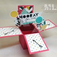 Geometrical & the Kaleidoscope Trend: Pop Up Box Card Idea