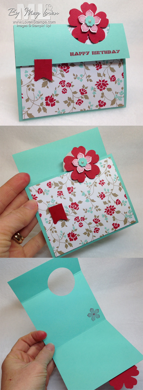 Peek A Boo Card Video Tutorial: Petite Petals & the Fresh Prints Designer Series Paper Stack, by LovenStamps