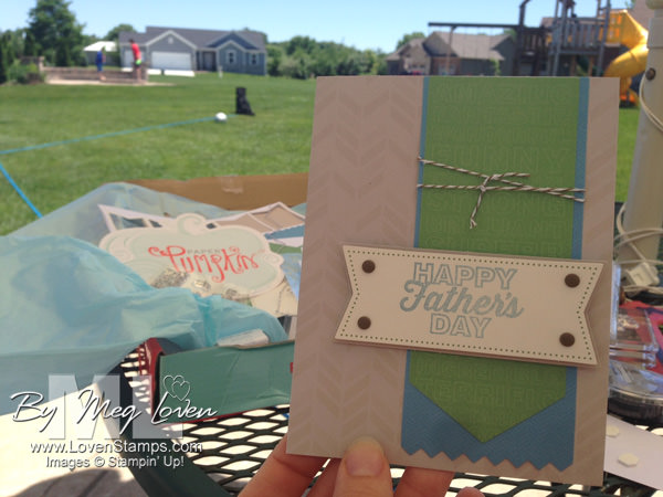 Paper Pumpkin Kit from June: Happy Father's Day card idea by LovenStamps