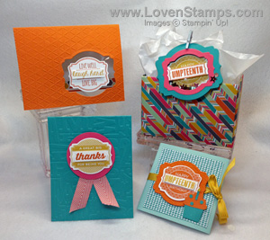 Stampin' Up! Oh My Goodies & Deco Label Framelits - Stamps in the Mail Club Kit for August, only from LovenStamps