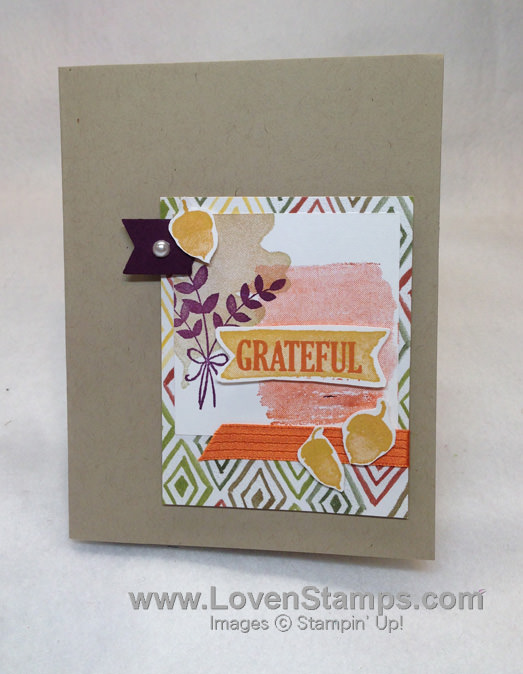 Stampin' Up! set - For All Things: Faux Polaroid card layout - Sketch 177 from LovenStamps