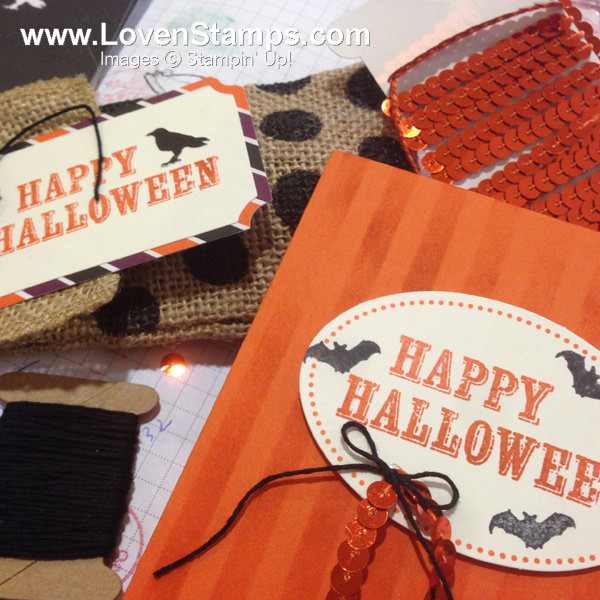Paper Pumpkin Kit from September - Happy Halloween treats and a card idea - LovenStamps