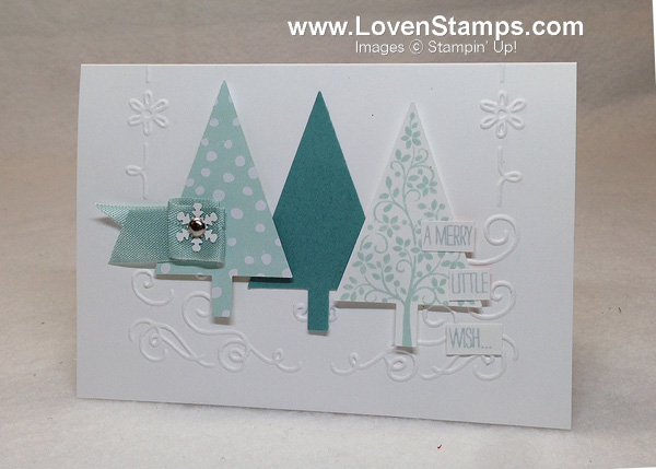 Festival of Trees & the Tree Punch - perfect bundle for Christmas cards this year, from Stampin' Up!, idea by LovenStamps for Stamps in the Mail Club with Meg