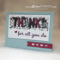 Stained Glass Technique Tutorial: using the For Being You stamp set and the Sheer Perfection Vellum from the last of Sale-A-Bration, project by LovenStamps