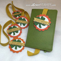 DIY Happy St Patrick's Day Bookmarks - a Pansy Punch Art Trick from LovenStamps