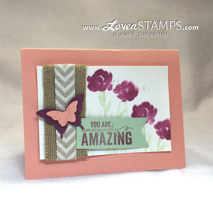 Faux Watercolor Technique with the Painted Petals stamp set for Stamps in the Mail Club with Meg