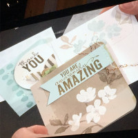 Note Cards shared at the Stampin' Up! Leadership conference with the Painted Petals stamp set - gorgeous art on a small canvas