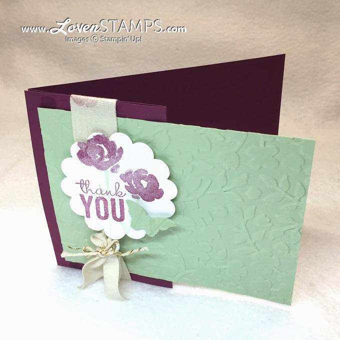 A Fun Fold card idea - Painted Petals stamp set for Stamps in the Mail Club by LovenStamps with supplies from Stampin Up