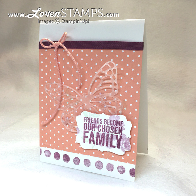Sweet & Simple: Painted Petals card with Butterfly Thinlits highlight by LovenStamps for Stamps in the Mail Club