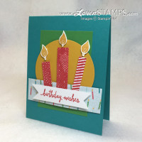 Build A Birthday stamp set from Stampin Up - DIY candle card video tutorial and kit from LovenStamps