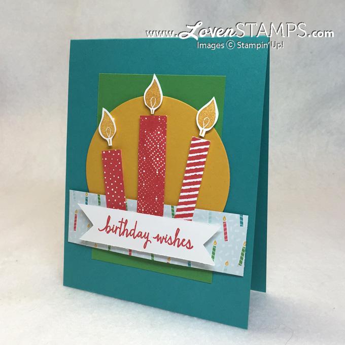 diy birthday cards build a birthday candle tutorial  lovenstamps, Birthday card