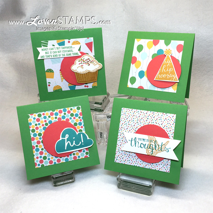 Cherry On Top Designer Series Paper Stack by Stampin' Up! - so many great card ideas with one paper set.  Just pick a stamp set and go!  Ideas shared at LovenStamps