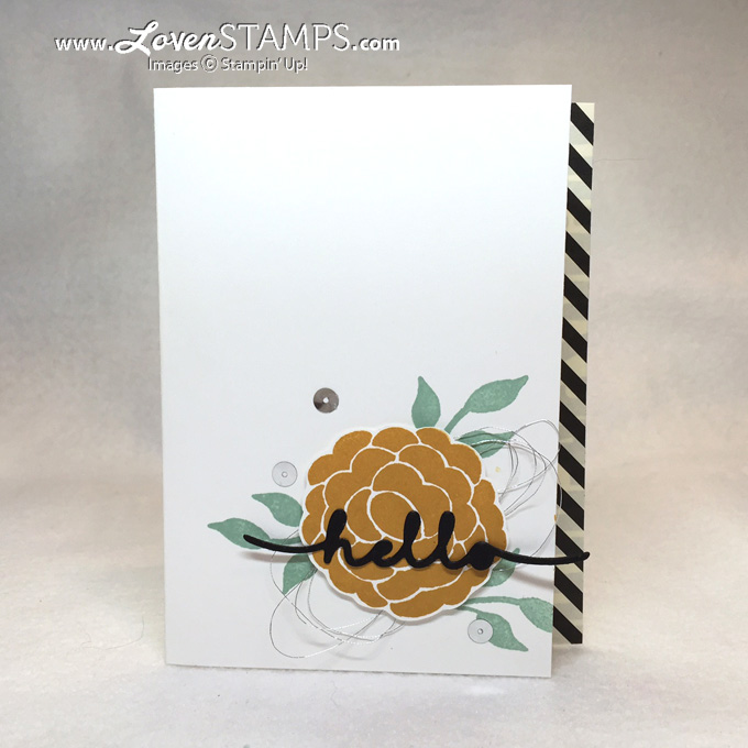 Video Tutorial for New Greetings Thinlits - secrets for perfect die cuts, plus card instructions from LovenStamps, all products Stampin Up