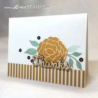 Bountiful Border stamp set from Stampin' Up - card by LovenStamps for Stamps in the Mail Club