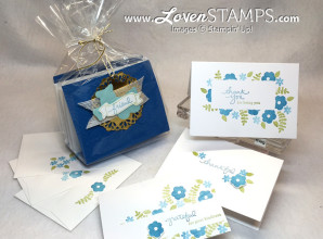 Make Your Own set of note cards - perfect gift idea for teachers! Video Tutorial by LovenStamps, all supplies Stampin' Up!
