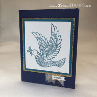 Dove of Peace: Stampin' Up! Christmas card idea by LovenStamps