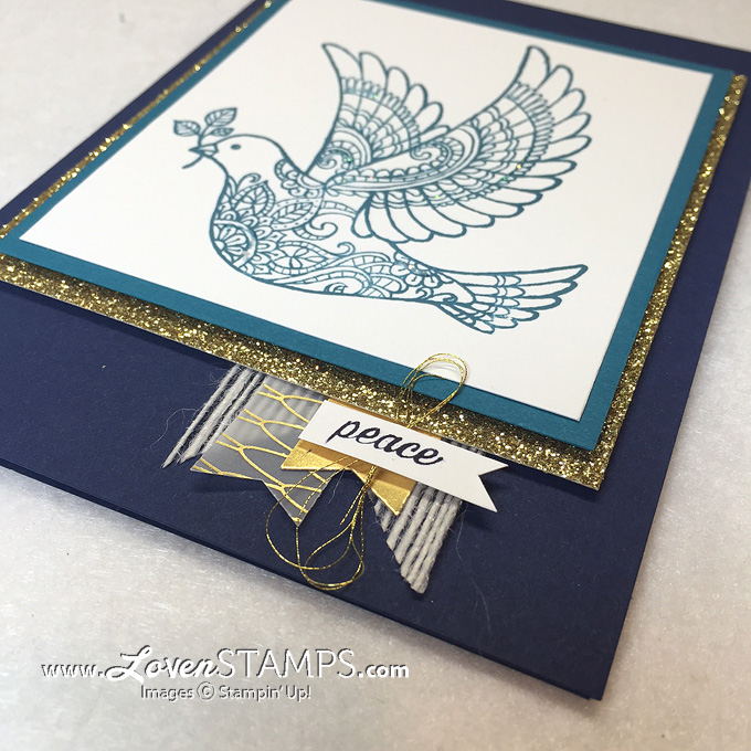 Dove of Peace - use your Banner Punch and layer the pieces (all supplies Stampin' Up!) by LovenStamps