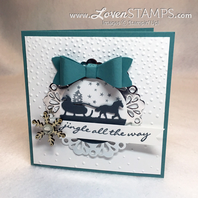 Jingle All The Way and the Sleigh Ride Edgelits Dies for Stamps in the Mail Club by LovenStamps