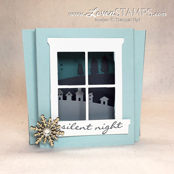 Sleigh Ride Edgelits Shadowbox Card with the Hearth & Home Framelits - by LovenStamps for Stamps in the Mail Club