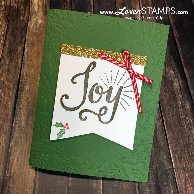 Berry Merry Christmas Card - with the Boughs & Berries Embossing Folder