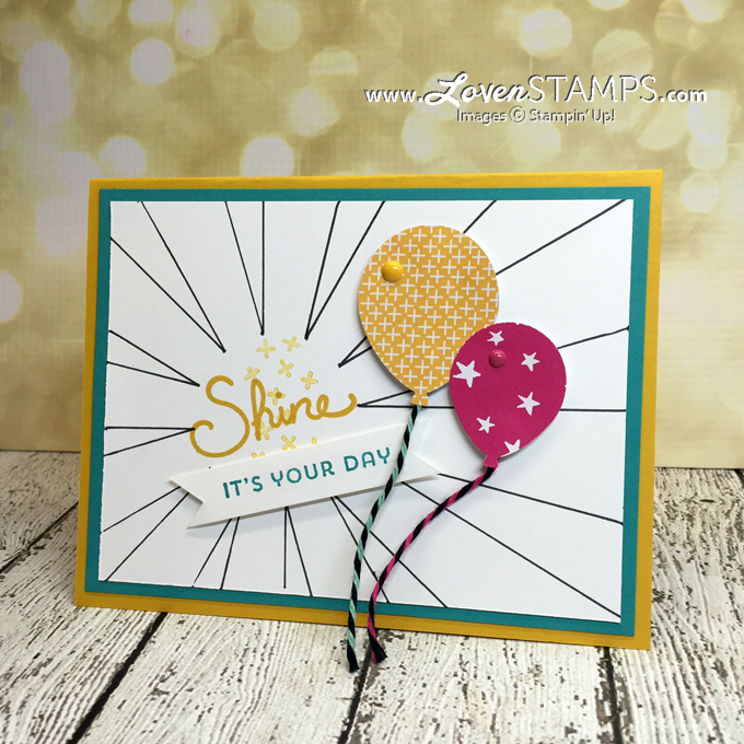 LovenStamps Video Tutorial: Use your Sunburst Thinlits Die to create a drawing mask.  Stamps in the Mail Club - February 2016, exclusively at LovenStamps
