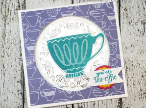 LovenStamps: A Nice Cuppa and the Cups & Kettle Framelits Dies, Window Card Layout Idea available in April 2016 Stamps in the Mail Club Kits - only at LovenStamps